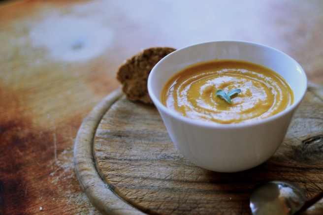 Red Roasted Pumpkin Soup